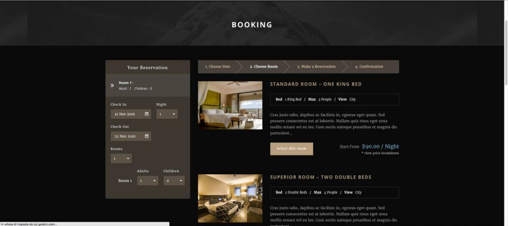 Recensione tema Hotel Master