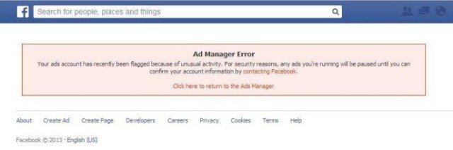 bannato da Facebook Ads