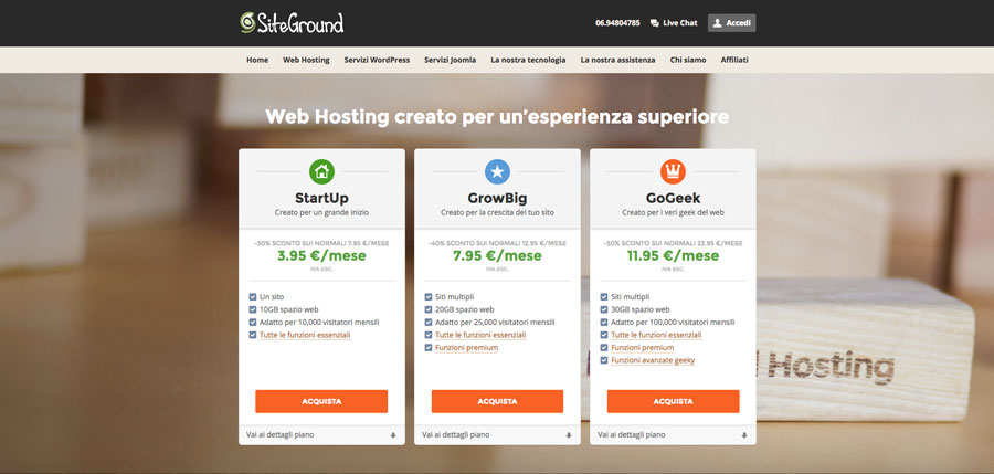 SiteGround in Italiano