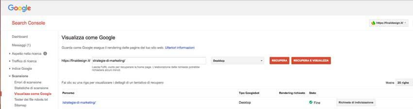 come indicizzare un sito su google