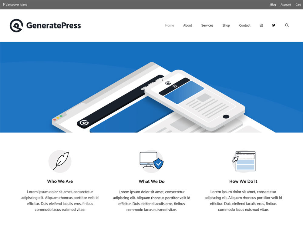 generatePress tema